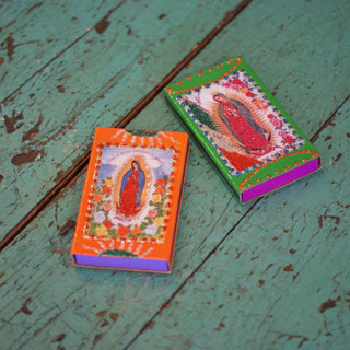 Decorated Matchboxes, Guadalupe - Zinnia Folk Arts