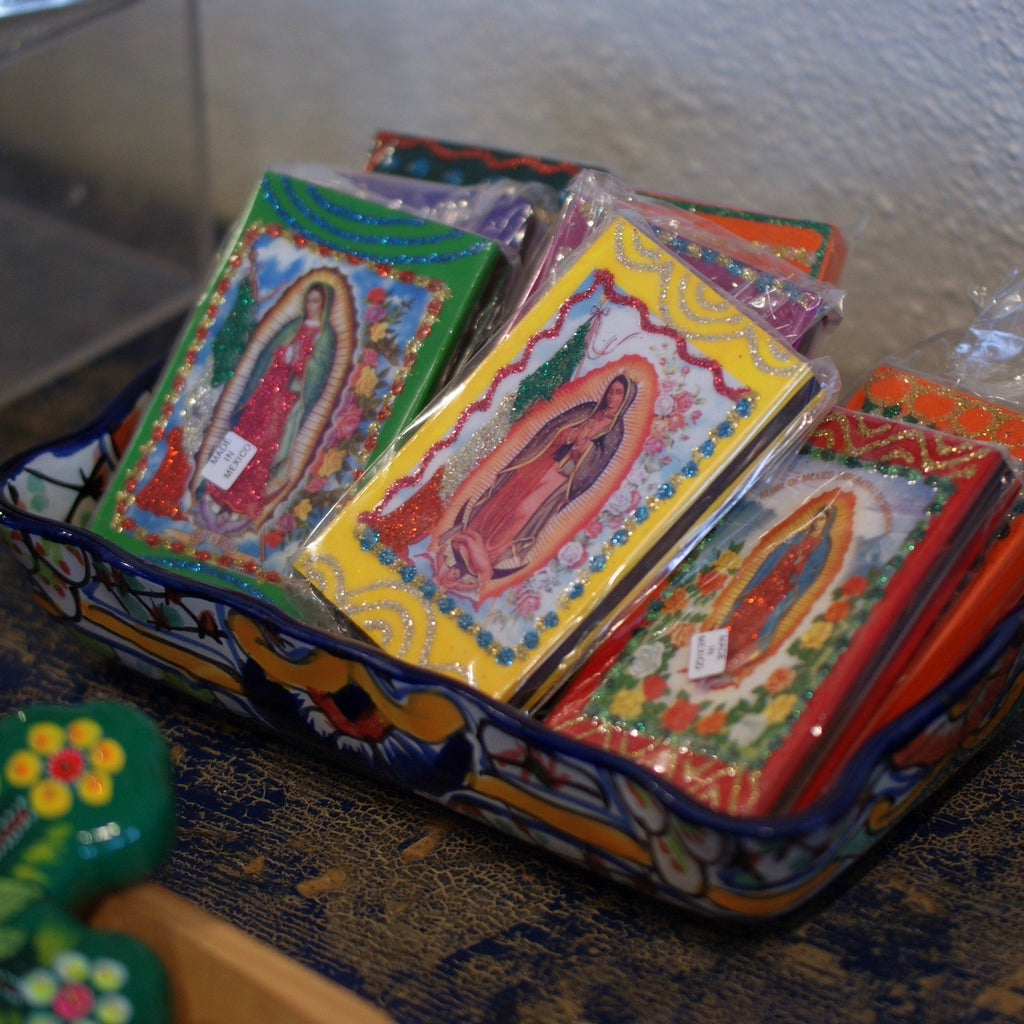 Decorated Match Boxes, Guadalupe - Zinnia Folk Arts