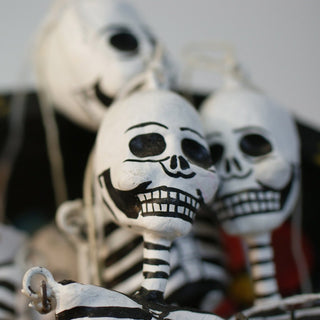Dangling Day of the Dead Papier-Mâché Skeletons & Diablitos (Devils) - Zinnia Folk Arts