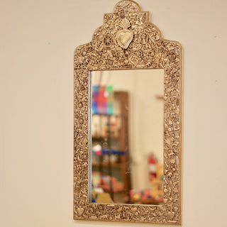 Milagro Covered Mirror Frame Large - Zinnia Folk Arts