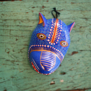 Medium Carved and Painted Animal Masks, Xuana - Zinnia Folk Arts