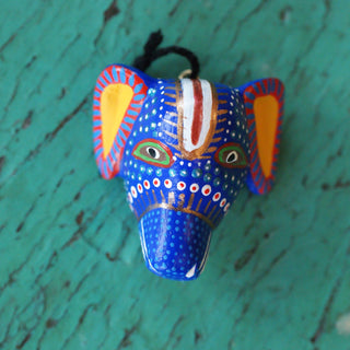 Tiny Carved and Painted Animal Masks, Xuana Family - Zinnia Folk Arts
