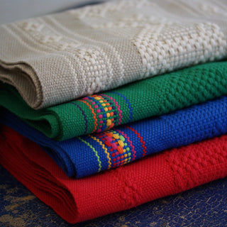Handwoven Cotton Table Runners with Decorated Edges, Oaxaca - Zinnia Folk Arts