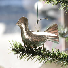 Tin Mexican Paloma Dove Bird Ornaments