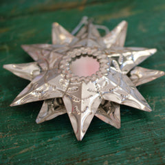 Double Sided Tin Star With Mirror