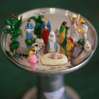 Tiny Clay Puebla Nativity Scene, 20 pieces - Zinnia Folk Arts