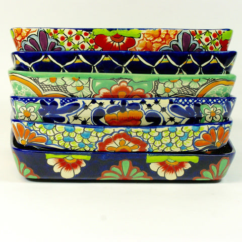 "9 x 13"" Mexican Talavera Baking Pan - Zinnia Folk Arts"
