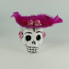 Mexican Paper Mache Skulls with Hats
