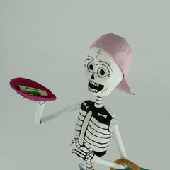 Mexican Paper Mache Skeletons at Work