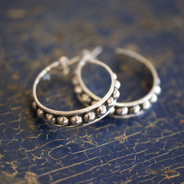 Mexican Silver Earrings in the El Clásico Style