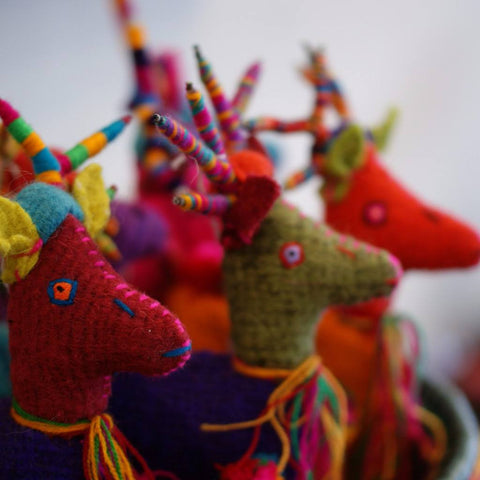 Wool Reindeer from Chiapas, Small - Zinnia Folk Arts