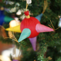 Corn Husk Mexican Christmas Pinata Ornaments