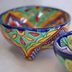 Three Footed Bowls, Dolores Hidalgo Molcajete Bowls