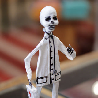 Glossy Paper Mache Skeleton Figures - Zinnia Folk Arts