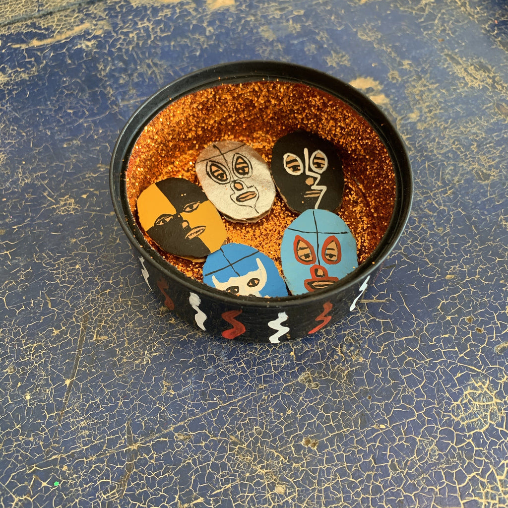Lucha Libre Decorated Nicho Boxes - Zinnia Folk Arts