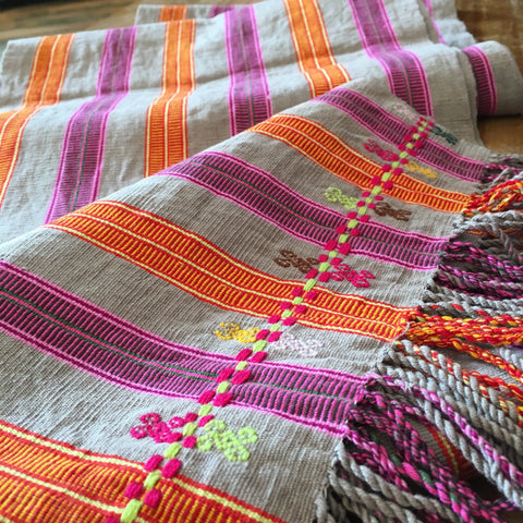 Long Striped Table Runners, 8' - Zinnia Folk Arts