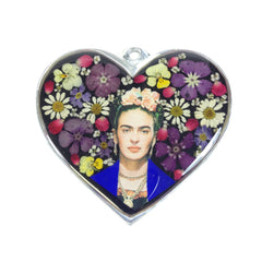 Frida Kahlo Pewter Heart