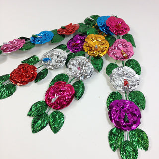 Foil Flower Spray - Zinnia Folk Arts