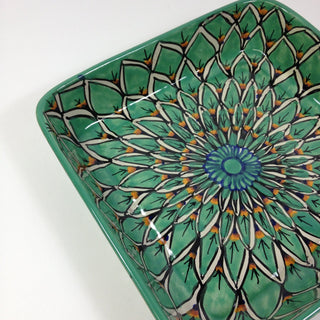 9 x 9 Mexican Talavera Baking Pan - Zinnia Folk Arts