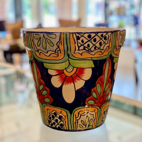 Tall Talavera Flower Pots - Zinnia Folk Arts