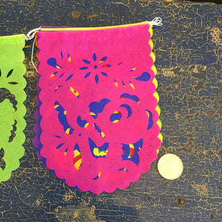 Papel Picado Small, 10 Mexican Paper Flags on a String - Zinnia Folk Arts