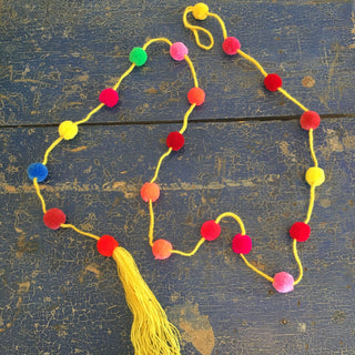 Strings of Chiapas Pompoms - Zinnia Folk Arts
