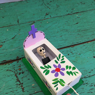 Pop-Up Day of the Dead Coffin - Zinnia Folk Arts