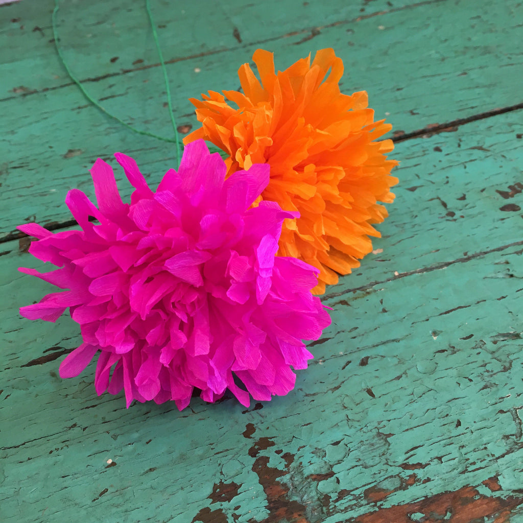 Day of the Dead Mexican Paper Flowers - Zinnia Folk Arts