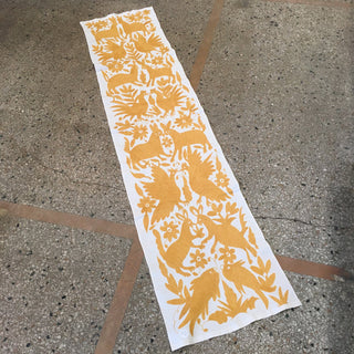 Otomi Embroidered Long Table Runner - Zinnia Folk Arts