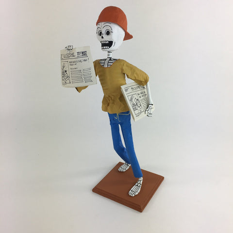 Mexican Paper Mache Newspaper Seller - Zinnia Folk Arts
