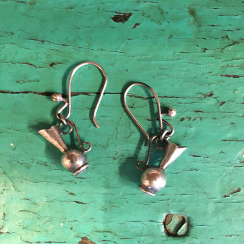 Jarritos Mexican Sterling Silver Earrings - Zinnia Folk Arts
