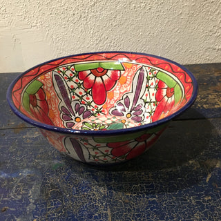 Mexican Talavera Salad Bowl, Large - Zinnia Folk Arts
