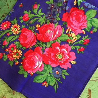 Flowered Scarves from Tlacalula - Zinnia Folk Arts