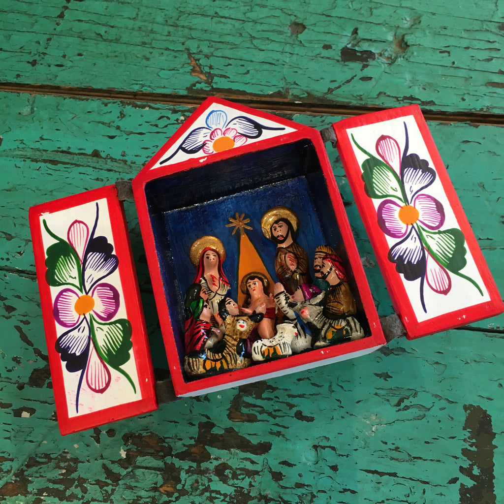 Small Potato Paste Nativity Nicho Box, Peru - Zinnia Folk Arts