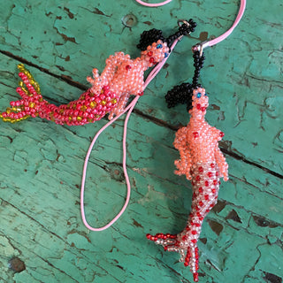 Beaded Mermaid Ornaments - Zinnia Folk Arts