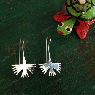 Sterling Silver Hummingbird Earrings, Taxco - Zinnia Folk Arts