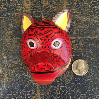 Large Carved and Painted Animal Masks, Xuana - Zinnia Folk Arts