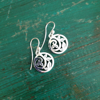 The Jean Clasicos Sterling Silver Earrings - Zinnia Folk Arts