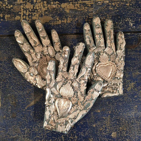 Milagro Covered Hand, Small - Zinnia Folk Arts