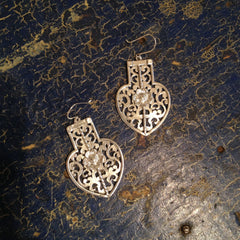 Large Sterling Arabesque Earring