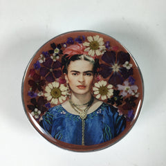 Frida Kahlo Pewter Round Box