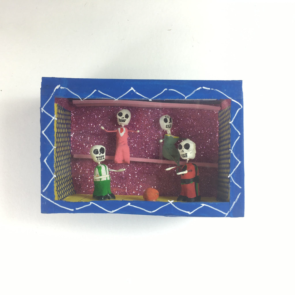 Small Day of the Dead Boxes with Glass Front - Zinnia Folk Arts