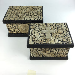 Milagro Covered Wooden Boxes, 2 sizes