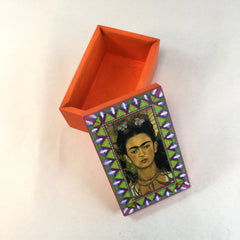 Mexican Decorated Wooden Box, Frida Kahlo