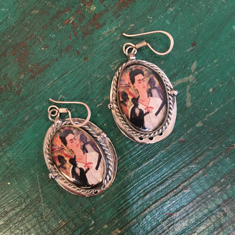 Frida Kahlo Earrings - Zinnia Folk Arts