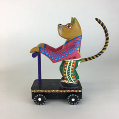 Marcelo Vidales Carved Animals on Scooter Alebrije
