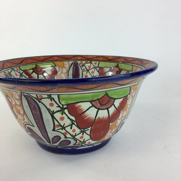 Mexican Talavera Salad or Mixing Bowl, Medium