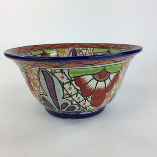 Mexican Talavera Salad or Mixing Bowl, Medium - Zinnia Folk Arts