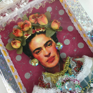 Frida Kahlo Wooden Nicho Boxes - Zinnia Folk Arts
