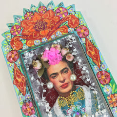 Frida Kahlo Painted Tin Nicho Boxes